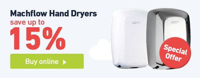 Buy two Machflow high speed hand dryers and save 15%