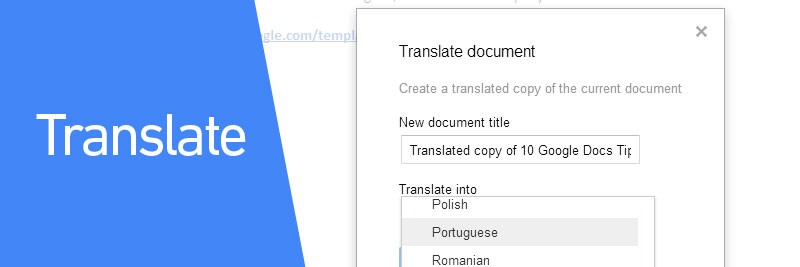 10 google docs tips to boost productivity direct365 blog for Translate word documents google