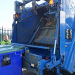 Rear of bin truck
