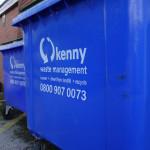 Kenny waste bin close up