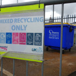 Mixed recycling sign