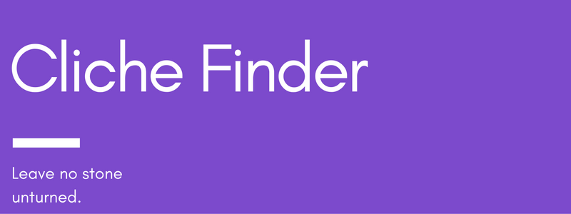 Cliche finderCliche finder