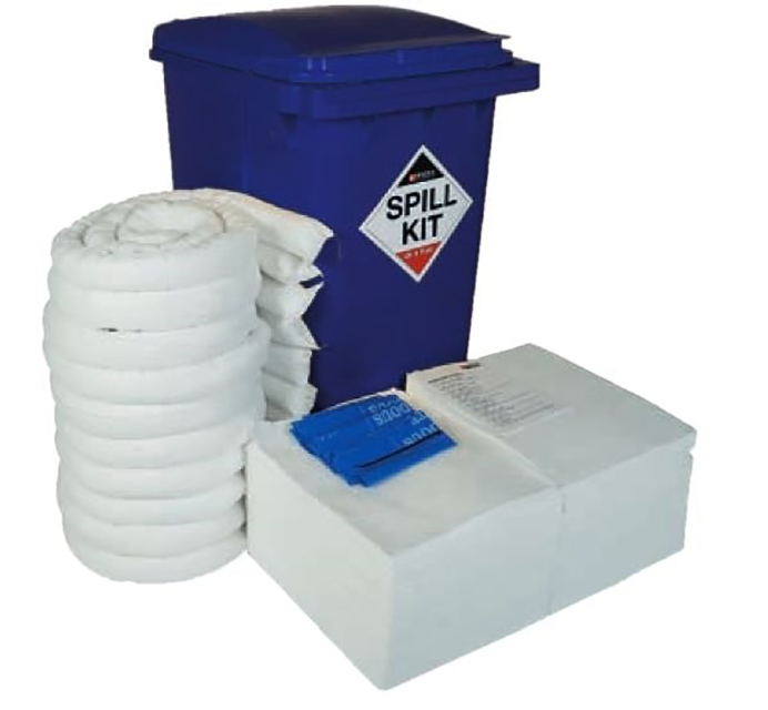 vehicle and oil spill kit