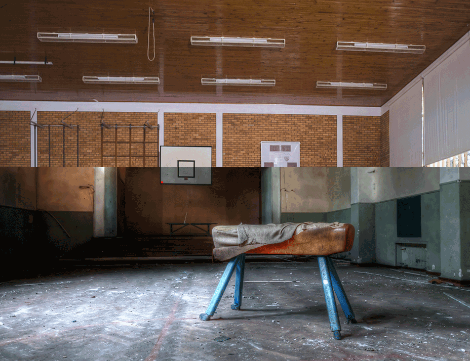 School asbestos before and after