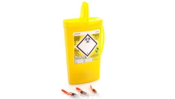 hazardous waste bin