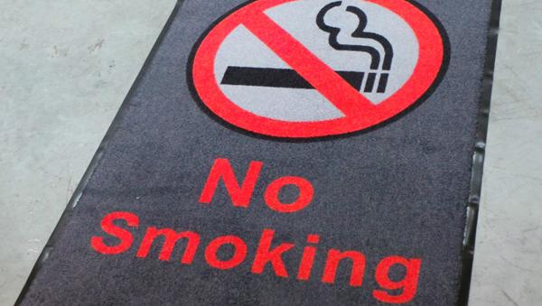 no smoking sign logo mat
