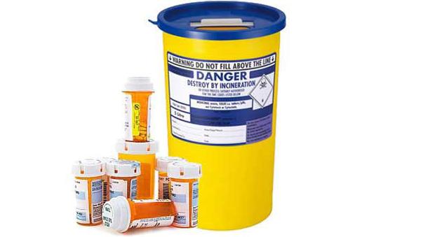 pharmaceutical waste bin