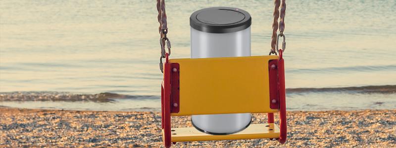 swing bin on a swing