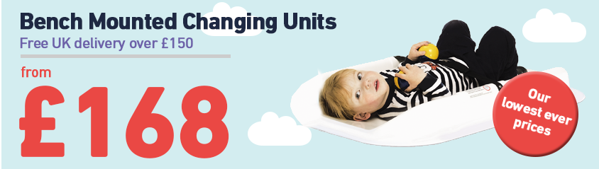Bench Mounted Baby Changers