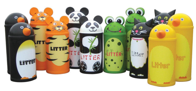 Animal Litter Bins - Set of 4 - 52 litres