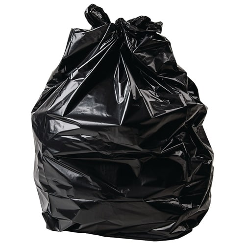 Medium Duty Black Compactor Sacks (Case of 100)