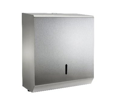 Synergise C-Fold or Multifold Hand Towel Dispenser in Brushed Steel