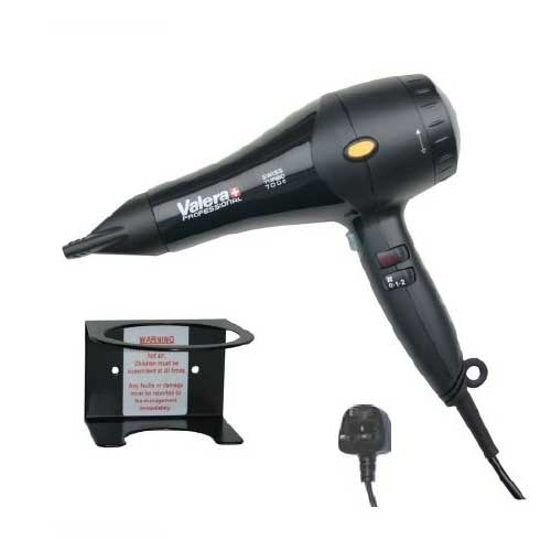 Valera Swiss Turbo 7000 1800w Hairdryer in Black with Wall Bracket