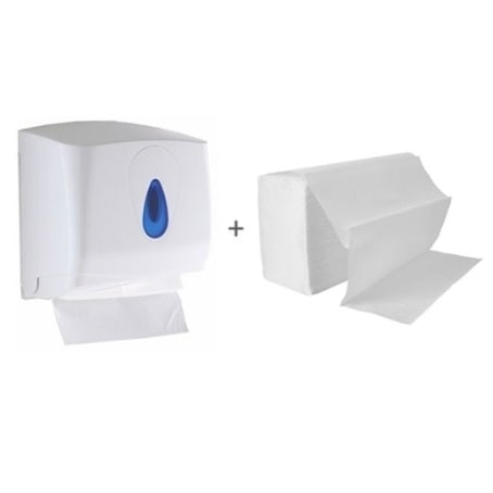 Hand Towel Starter Pack including Small Dispenser & Hand Towels