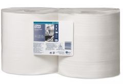 Tork Wiper 415 Combi White Roll 1ply 460m (Case of 2) - 131135