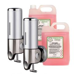 Nova Soap Dispenser (Pack of 2) & 10L Liquid Soap Bundle