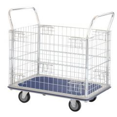 Steel Platform Truck With Chrome Plated Mesh Panels 3 Sizes