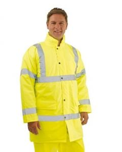 Yellow Hi-Vis Safety Jacket (Various Sizes)