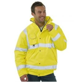 Yellow Hi-Vis Bomber Jacket (Various Sizes)