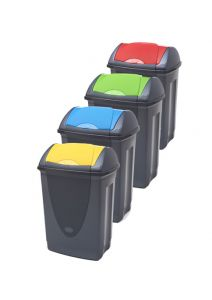 Trojan 50 Litre Push Flap Bins with Coloured Lid