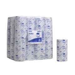 """7285 WYPALL L20 10"""" 1 Ply Single Use Wipers Small Roll Blue (24-Rolls)"""