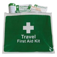 HSE Travel First Aid Kit Fully Stocked Vinyl Zip Wallet