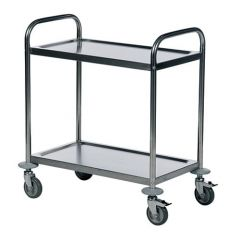 Economy Stainless Steel Trolleys with 2 Shelves 685 x 380mm