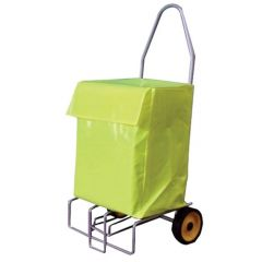 Folding Mail Trolley With Large PVC Bag