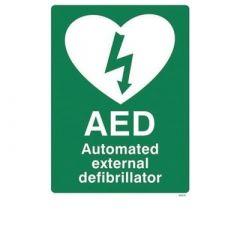 St John Ambulance AED Sign 25 x 30cm
