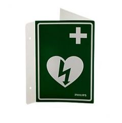 Philips AED Wall Sign- Green
