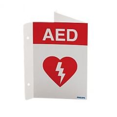 Philips AED Wall Sign- Red