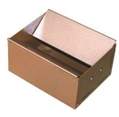Floor Cigarette Bin with Hinged Flaps Bronze Finish