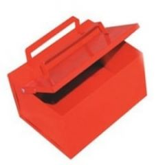Ash/Cigarette safety collecting bin. Colour Red.