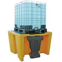 Single IBC Bunded Spill Pallet With Grid
