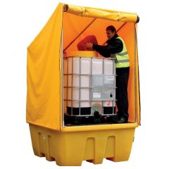 Single IBC Spill Pallet with Framed Cover