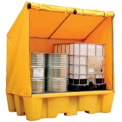 Double IBC Spill Pallet with Framed Cover
