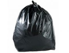 "Light Duty Black Bin Bags 5KG 18x29x38"" (Case of 200)"