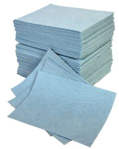 Double Weight Hydraulic Oil Absorbent Pads x 100 Blue