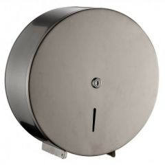 Brushed Stainless Steel Jumbo Toilet Roll Dispenser
