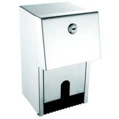 Brushed Stainless Steel Dual Toilet Roll Dispenser