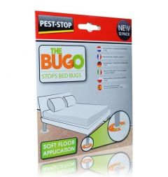 BUGO Professional Bed Bug Monitor Trap- Soft Floor (Pack of 12)