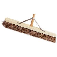 """Broom Natural Coco with 24"""" Handle & Stay"""