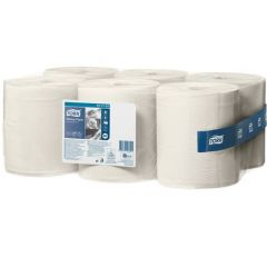 Tork Advanced Wiper White Centrefeed Roll (Case of 6 Rolls) - 151131