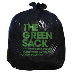 CleanWorks Black Sack Bin Bag 15KG+ Case of 200