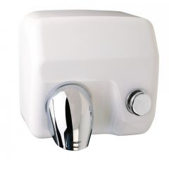 C21 Push Button Nozzle Hand Dryer in White