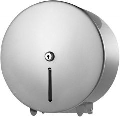Silver Metal Jumbo Toilet Roll Dispenser