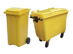 Yellow Clinical Waste Bin including Lock (Various Sizes)