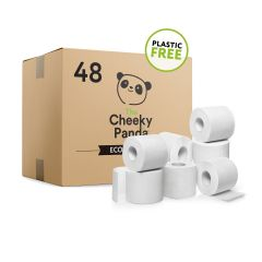 Cheeky Panda Eco Friendly Sustainable Bamboo 3 Ply Toilet Rolls 48