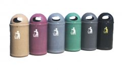 Classic Litter Bin 90 Litres - Stone Effect (Various Colours)