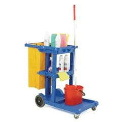 Cleaning Cart With Lid, Colour Blue